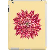 Beautiful unique red chrysanthemum iPad Case/Skin