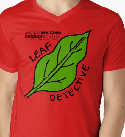 Skunk Cabbage - Leaf Detective Mens V-Neck T-Shirt