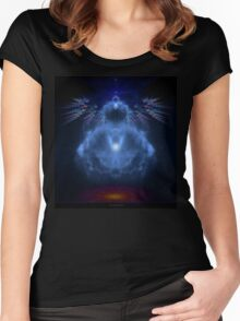 Buddhabrot Fractal Mandelbrot  - Digital Art Women's Fitted Scoop T-Shirt