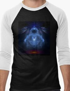 Buddhabrot Fractal Mandelbrot  - Digital Art Men's Baseball ¾ T-Shirt