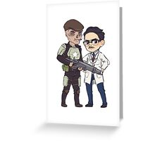 The Scientist and his Bodyguard Greeting Card