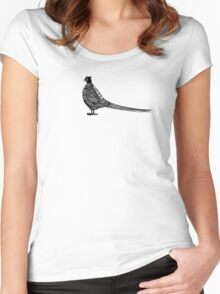 Black Pheasant Logo Women's Fitted Scoop T-Shirt