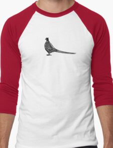 Black Pheasant Logo Men's Baseball ¾ T-Shirt