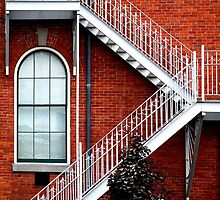 Bricks, Windows & Stairs by Laurie Minor