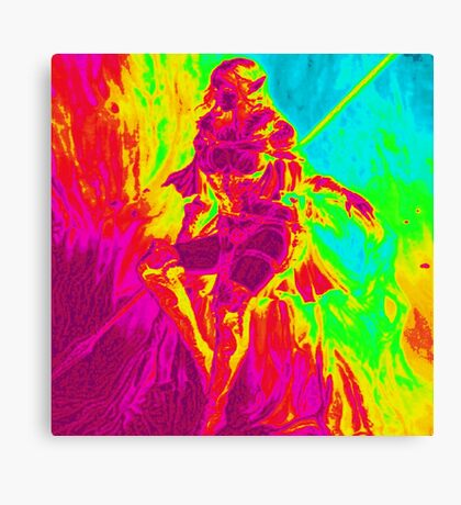 Rainbow Elf Warrior Canvas Print