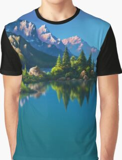North America Landscape Graphic T-Shirt