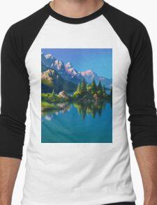 North America Landscape Men's Baseball ¾ T-Shirt