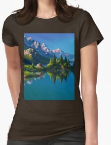 North America Landscape Womens Fitted T-Shirt