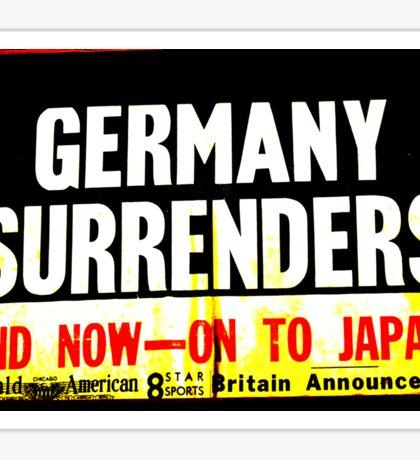 WWII Germany Surrenders Sticker