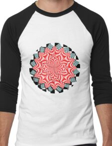 Digital Flower  Men's Baseball ¾ T-Shirt