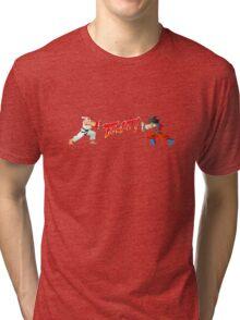 Ryu Vs Goku Tri-blend T-Shirt