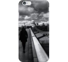 Winter Walk To St Paul's Cathedral London iPhone Case/Skin