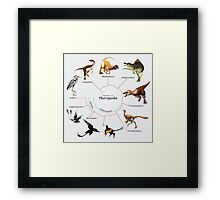 Theropoda: The Cladogram Framed Print