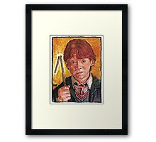 RON WEASLEY, AS PORTRAYED BY ACTOR RUPERT GRINT Framed Print