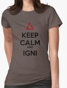 The Witcher Igni Womens Fitted T-Shirt