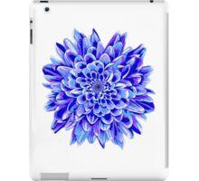 Beautiful unique deep blue chrysanthemum iPad Case/Skin