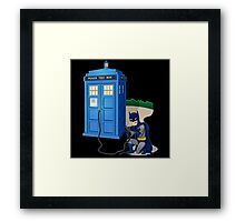 Breaking In Box Telephone Framed Print