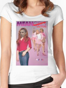 Mean Elections (Mean Girls Parody) Women's Fitted Scoop T-Shirt