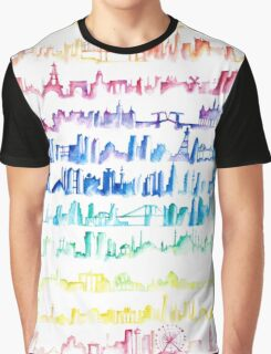Skylines Across the World  Graphic T-Shirt