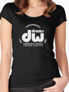 dw Drums Logo Women's Fitted Scoop T-Shirt