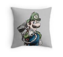 Luigi Throw Pillow