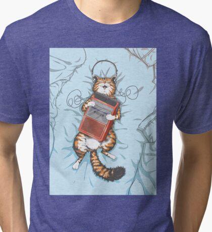 Music Cat Tri-blend T-Shirt