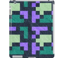 Violet Green Pixel Blocks iPad Case/Skin