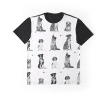 Dogs Dogs Dogs Dogs Dogs Graphic T-Shirt