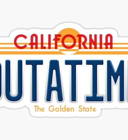 Back to the Future II Licence Plate Outatime Sticker