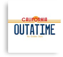 Back to the Future II Licence Plate Outatime Canvas Print