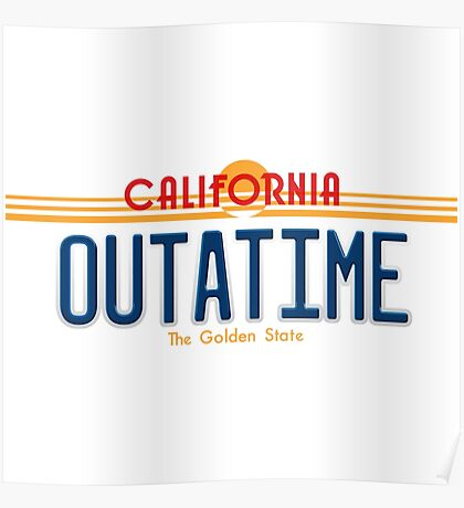 Back to the Future II Licence Plate Outatime Poster