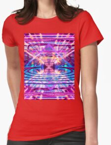Rave Vision Synesthesia - Psychedelic Geometric Art  Womens Fitted T-Shirt