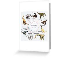Sauropodomorpha: The Cladogram Greeting Card
