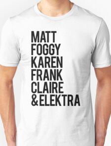 Daredevil names T-Shirt