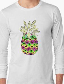 Neon Pineapple Long Sleeve T-Shirt