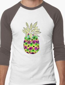 Neon Pineapple Men's Baseball ¾ T-Shirt