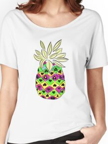 Neon Pineapple Women's Relaxed Fit T-Shirt