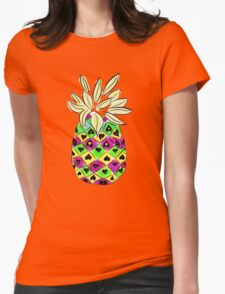 Neon Pineapple Womens Fitted T-Shirt