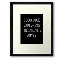 The Infinite Abyss Garden State Framed Print