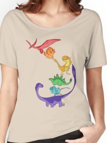 DinoBow Women's Relaxed Fit T-Shirt