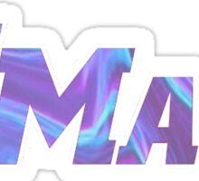 UMass Galaxy Tie Dye Sticker