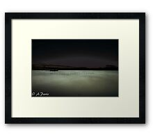 Moon water Framed Print
