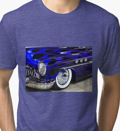 Classic Blue Car Tri-blend T-Shirt