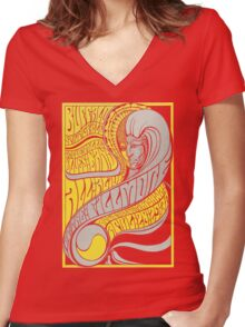 Fillmore: BUFFALO SPRINGFIELD Women's Fitted V-Neck T-Shirt