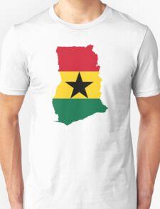 Flag Map of Ghana  T-Shirt