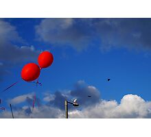 Red Balloons Photographic Print