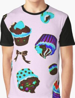 Psychedelic Cupcakes Graphic T-Shirt