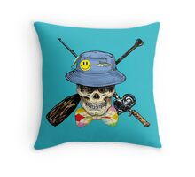 Preppy Skully Throw Pillow
