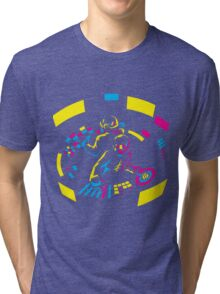 Daft Punk CMYK Tri-blend T-Shirt