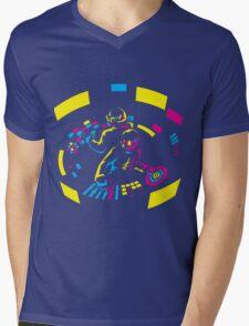 Daft Punk CMYK Mens V-Neck T-Shirt